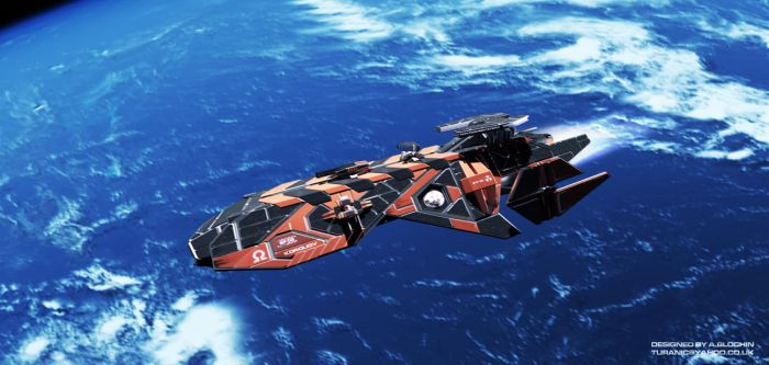 Space Frigate by TuranicRaider