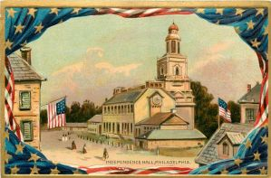 Vintage Philadelphia - Independence Hall by Yesterdays-Paper