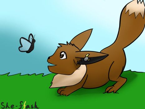Day 1 - Favorite Pokemon - Eevee by She-Flash