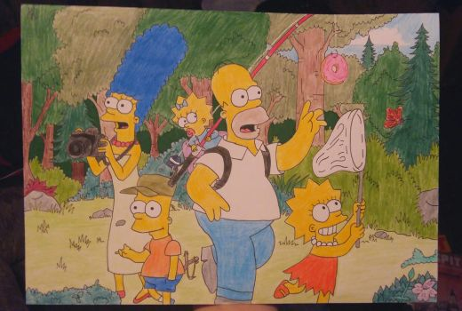 The Simpsons colored by AnaScarlet