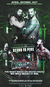 Reigns vs Punk - WrestleMania XXXIII by GherdezGFX