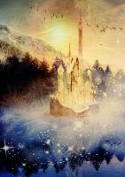 Magical Misty Morning Detail 2 by amethystmoonsong