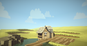 lowpoly-pixelated landscape prototype by lithium-sound