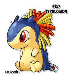 Typhlosion Patchwork by cartoonist