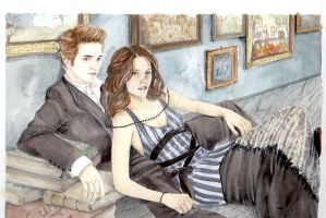 Edward and Bella by demyslytherin