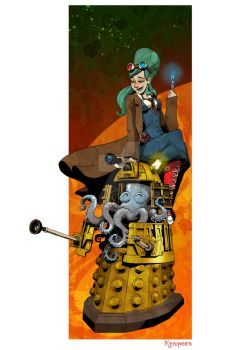 dalek and victoria by BrianKesinger