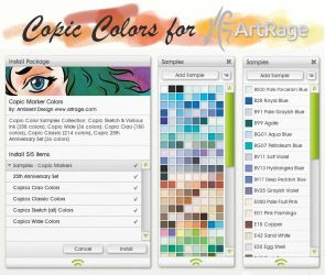 Copic Colors for ArtRage by ArtRageTeam