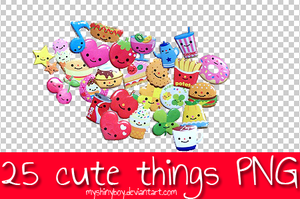 25 Cute Things PNG by MyShinyBoy