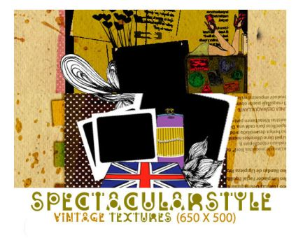 vintage textures set 01 by spectacularstyle