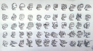 Fanmade GD icons - robots by ekolitex99