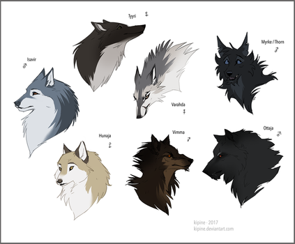 Wolf Characters by Kipine