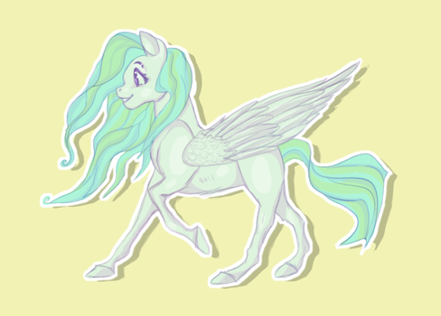 A Lovely Lil Pegasus Aint She Nice by terostrix