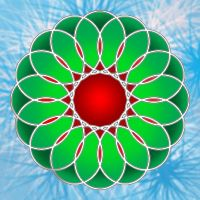 Xmas Wreath SpiralGraph by Lily-the-pink