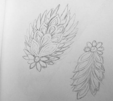 Feathery floral stuff ~ embroidery sketches by goiku