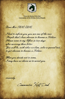 Letter for FF - Going to be Soldier by Es-Jey