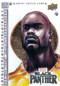 UPPER DECK BLACK PANTHER SKETCH CARDS - LUKE CAGE by FredIanParis