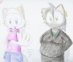 Ami and Software Oil Pastel by LegendaryWatermelon