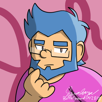 Art Trade/Collab - Josh the Hipster Guy by BattlePyramid