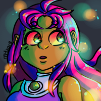 starfire (request) by montdsigns