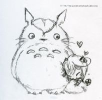 Me and Totoro by Mikochi