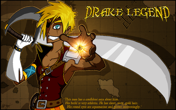 Drake Legend, Pirate Mage by Bosshamster