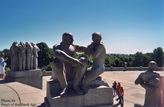 Vigeland Father and Son by DarkAgePearl
