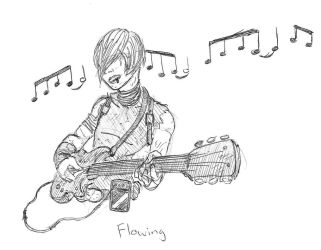 Inktober2018 - Day 10 Flowing by SamwiseTheAwesome