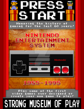Press Play - Video Game Museum Poster (NES) by S3NTRYdesigns