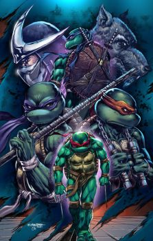 TMNT poster colored by spidey0318