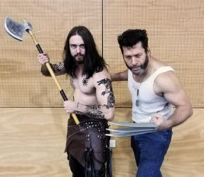 Old School/New School - Rollo and Wolverine by Packwood
