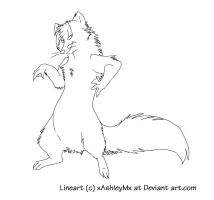 Ferret Lineart by TheCynicalHound