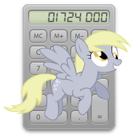 calculator icon - derpy hooves by spikeslashrarity