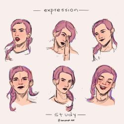Expression Study by greypandaart