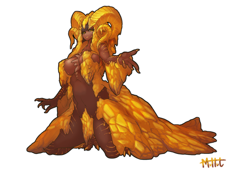 Kulve Taroth humanization by MuHut