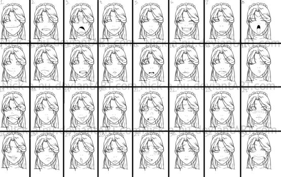 Ayla facial expressions by nick-a-nu