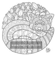 Red panda (The Exotic Colouring Book) by megcowley