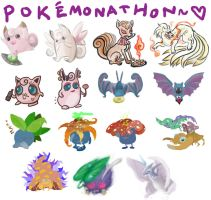 POKE'MONATHON 3: 035-049 by skeletonzoo
