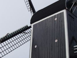 Mill in Leiden by Wishes-NL