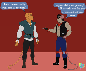 ~Clothing swap - Throttle and Andrew~ by AniaDawson