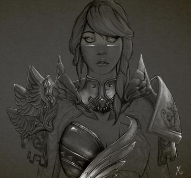Human Warrior - Guild Wars 2 by HEARTless--x