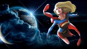 Supergirl Wallpaper - In Space 4 by Curtdawg53