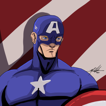 Captain America by SparkyPantsMcGee
