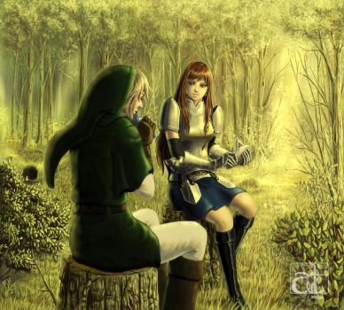 Link: Mage of Fairy Tail Illustration by animetayl