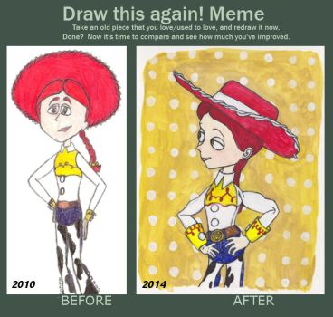 Draw this again: Jessie by magictoast15