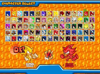 Sonic Clash Char Select Screen by Camunon
