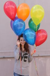 Ali and Balloons 02 by COI-stock