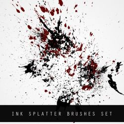 INK SPLATTER BRUSH SET by FlorianHesse
