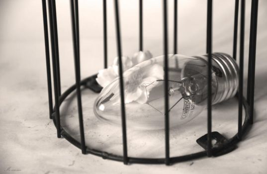 A Caged Idea. by me-are-cus
