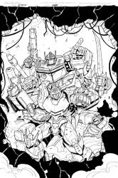 Transformers  Rid  Dark Cybertron 24 cover inks by MarceloMatere