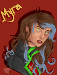Myra painting by Toffee-Gaming